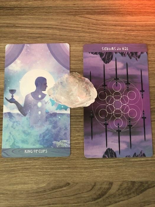 tarot card with a crystal