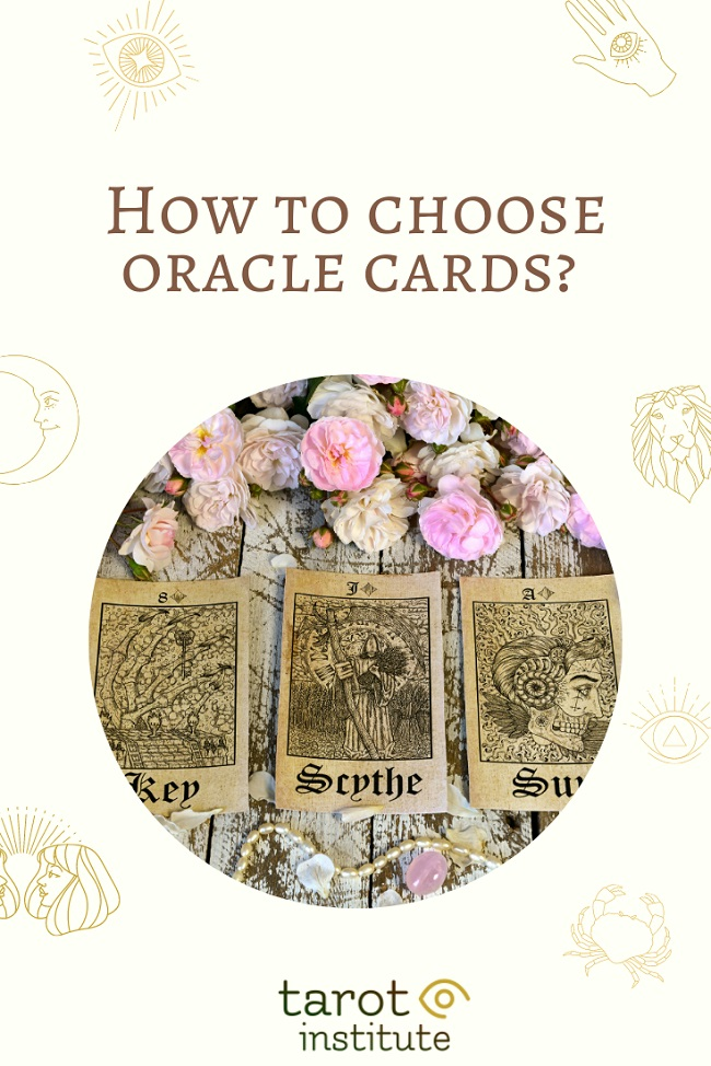 How to choose oracle cards pin by tarotinstitut