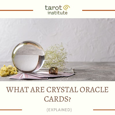 What are crystal oracle cards featured