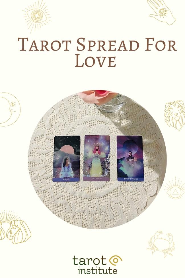 Tarot Spread For Love pin by tarotinstitute