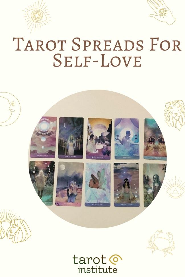 Tarot Spreads For Self-Love pin by tarotinstitute