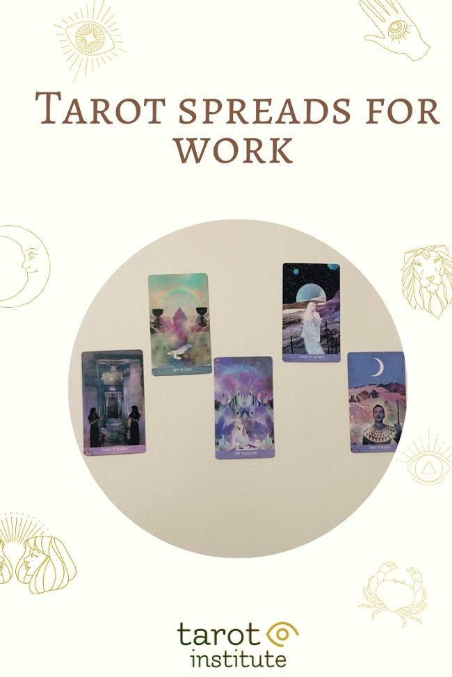 Tarot spreads for work pin by tarotinstitute