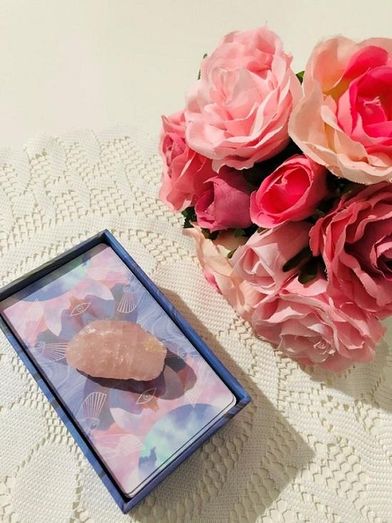tarot cards pink