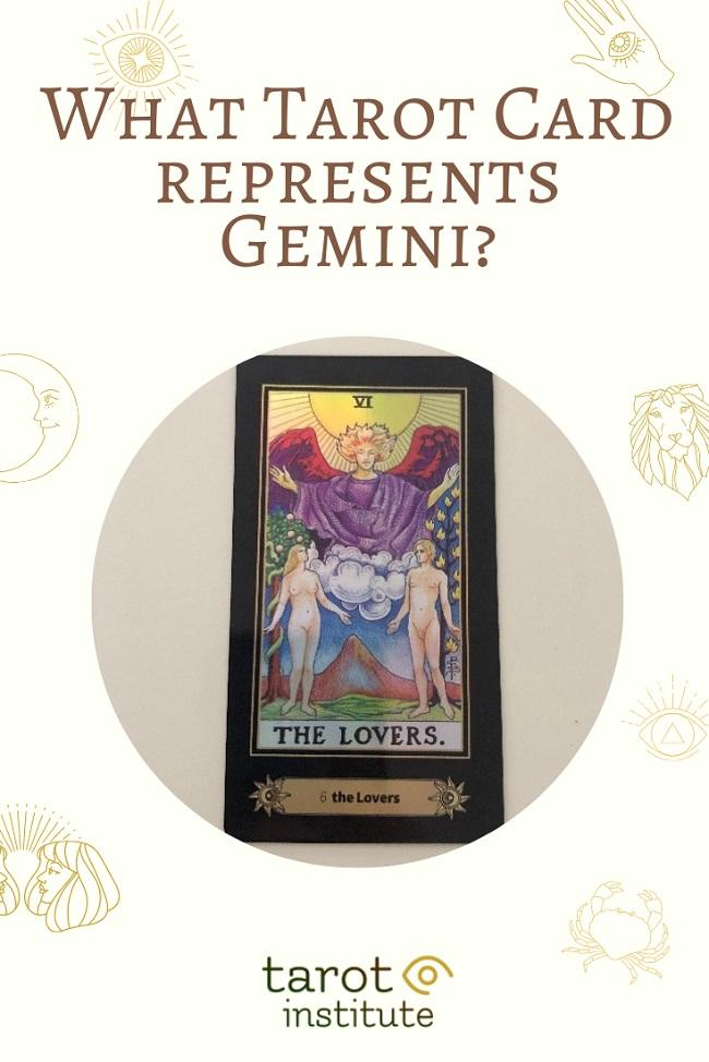 What Tarot Card represents Gemini pin by tarotinstitute